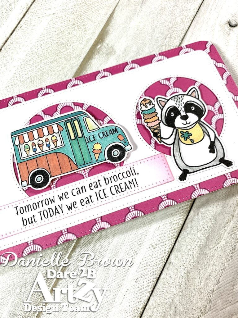 Raccoon Party Stamp Set, Dare 2B Artzy